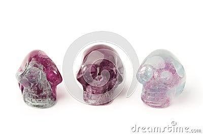 Fluorite skulls