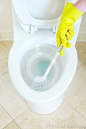 Free Flush Toilet. Cleaning Stock Photography - 13306602