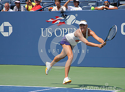 Four times Grand Slam champion Maria Sharapova practices for US Open Editorial Image