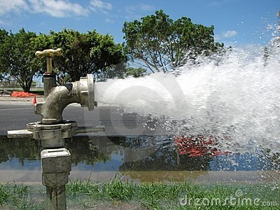 Flusing Water Pipes