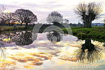 Fluss-Reflexionen