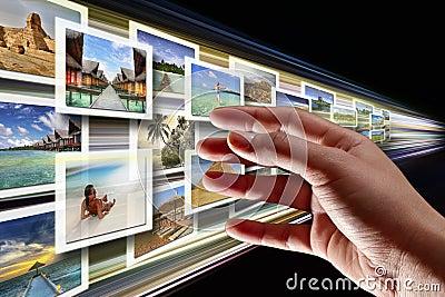 Flusso continuo delle multimedia dal Internet