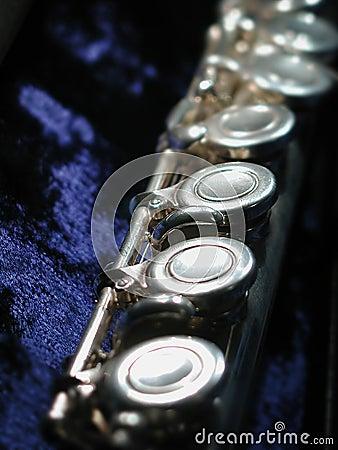 Flute on blue