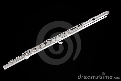 Flute Complete Isolated on Black
