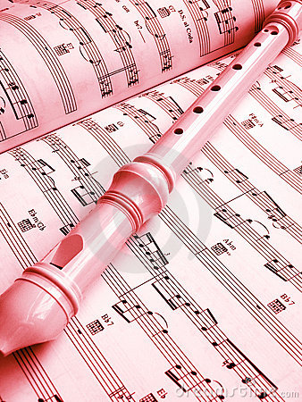 Flute and music score