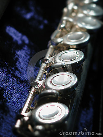 Free Flute On Blue Royalty Free Stock Image - 15406