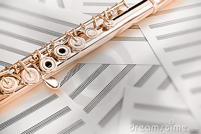 Flute/Upper Middle Joint/14 K Rose Gold