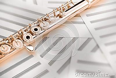 Flute/Upper Middle Joint/14 K Rose Gold