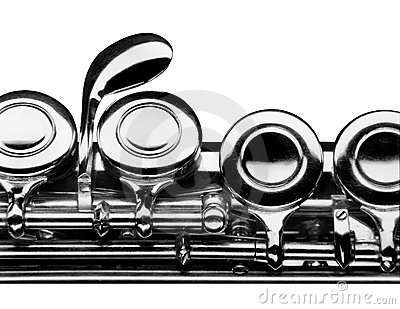 Flute on white background