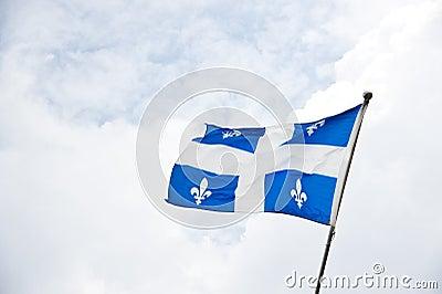 Fluttering Quebec Flag