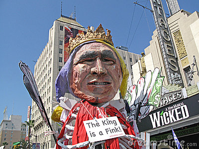Flutuador de Bush na reunião pacífica Fotografia Editorial
