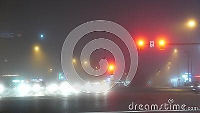 Fluxo total de tráfego em Coquitlam BC Canadá video estoque