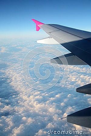 Fly above sky