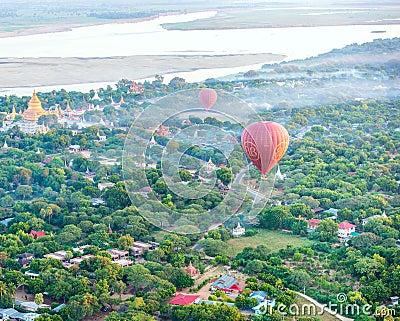Fly a balloon December Editorial Image