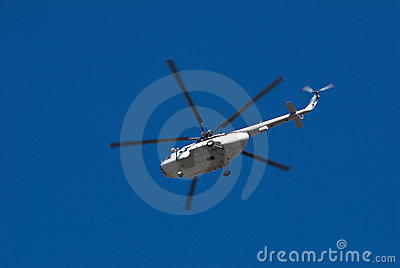 Fly big white helicopter