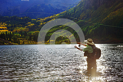 Fly Fisher Editorial Stock Photo