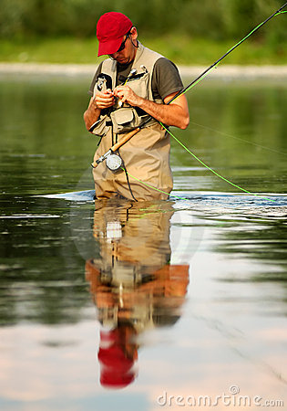 Free Fly Fishing Royalty Free Stock Photography - 2608947