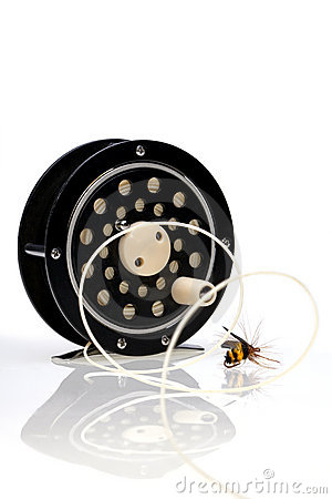 Fly Fishing Reel with Fly