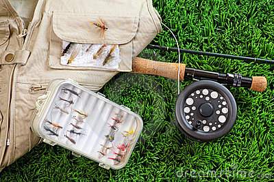 Fly fishing rod and accessories