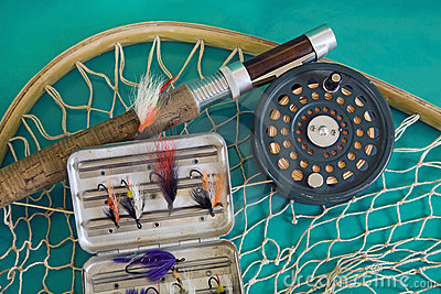 Fly fishing rod and net