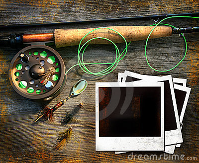Fly fishing rod with pictures
