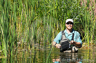 Fly Fishing with Wadders