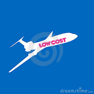 Fly low cost airline background
