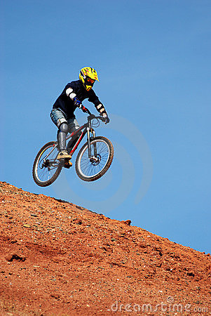 Free Fly Mountain Biker Stock Image - 1450311