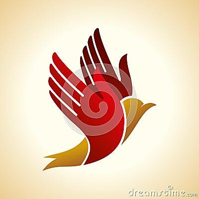 Free Fly Of Bird To Hand. Creative Idea Illustration Royalty Free Stock Photo - 42232015