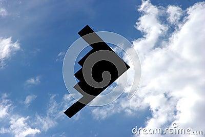 Fly-Over do bombardeiro do discrição B-2