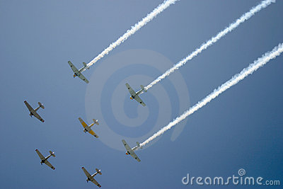 Fly-over by Squadron Editorial Stock Photo
