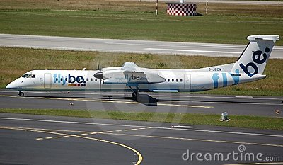 Flybe Aircraft take off Editorial Photography