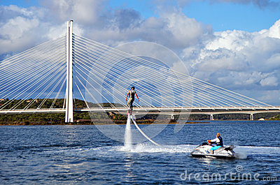 Flyboarding fun Editorial Photography