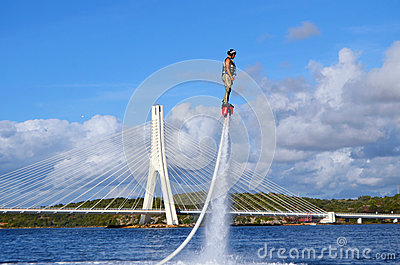 Flyboard Editorial Photo