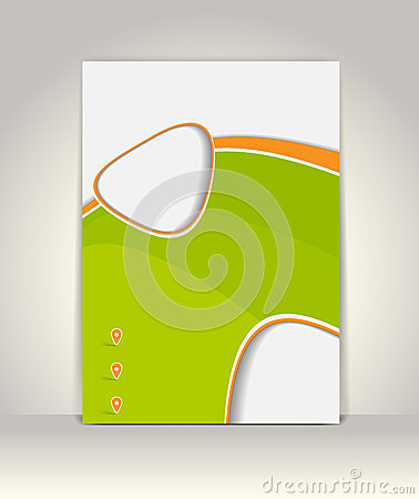 Flyer, brochure or magazine cover template Vector Illustration