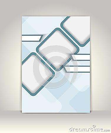 Flyer, brochure or magazine cover template Vector Illustration