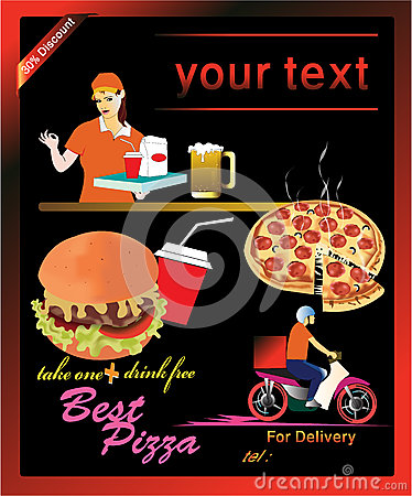 Flyer,food takeaway