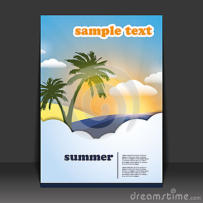 Free Flyer Or Cover Design Royalty Free Stock Images - 25196239