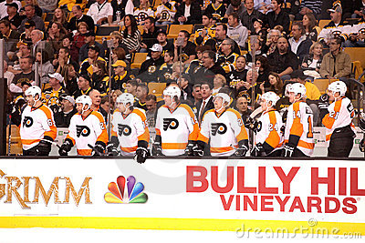 Flyers Bench Editorial Image