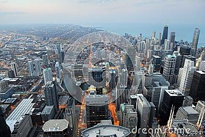 Flyg- sikt av Chicago, Illinois