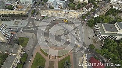 Flyg- sikt av domkyrkafyrkanten i Zhytomyr ukraine arkivfilmer