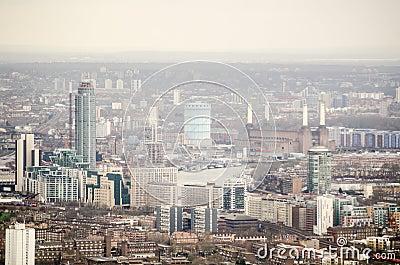 Flyg- sikt av Lambeth och Battersea