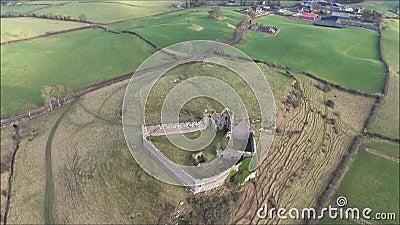 flyg- sikt Roche slott Dundalk ireland lager videofilmer