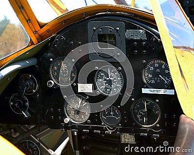 Flygplaninstrumentpanel