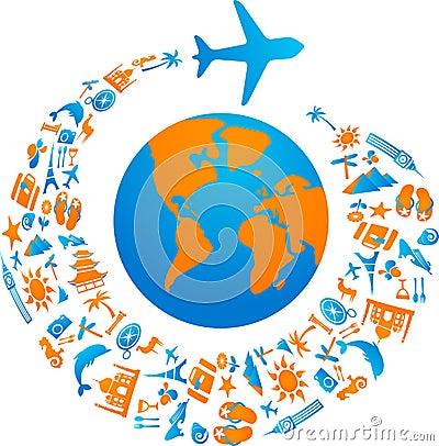 Free Flying Around The World Royalty Free Stock Photos - 14918248