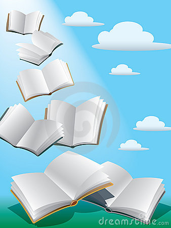 Free Flying Books Stock Photos - 2915033