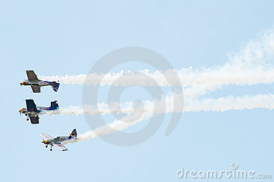 The flying bulls aerobatics team Editorial Photography