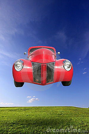Free Flying Car Royalty Free Stock Photography - 9375327