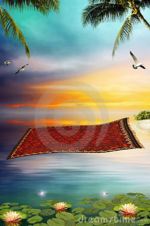 Free Flying Carpet Royalty Free Stock Photography - 13554037
