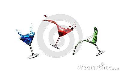 Flying cocktails